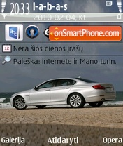 2011 BMW 5 Series theme screenshot