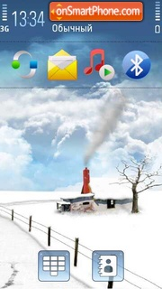 Dream snow theme screenshot