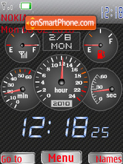 BMW Speed Clock theme screenshot