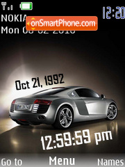 Audi Clock theme screenshot