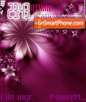 Purple Flower 02 es el tema de pantalla