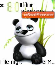 Cute Panda 02 theme screenshot