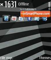 Stripes Black (D) theme screenshot
