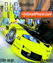 Mitsubishi Eclipse theme screenshot