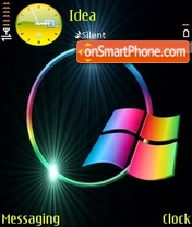 Glowing Window tema screenshot