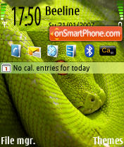 Greensnake theme screenshot