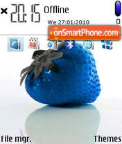 Blue Strawberry theme screenshot