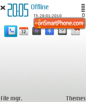 Gray blue tema screenshot