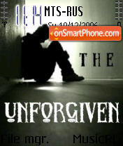 The Unforgiven theme screenshot