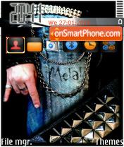 Dj Metal theme screenshot