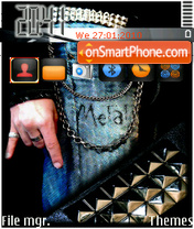 Скриншот темы Dj Metal
