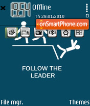 Follow The Leader es el tema de pantalla