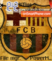 Fc Barcelona 09 theme screenshot
