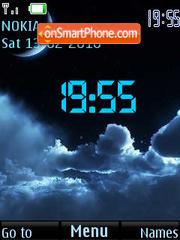 Скриншот темы Moon SWF Clock
