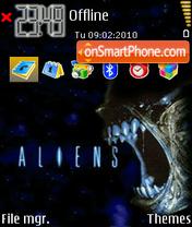 Скриншот темы Aliens 01