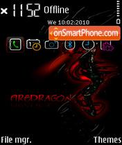 Скриншот темы Fire dragon FP1
