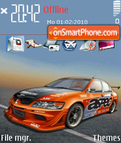 Orange Concept Car theme screenshot