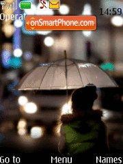 Umbrella girl theme screenshot