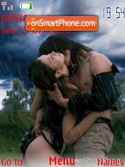 Couple in Rain theme screenshot