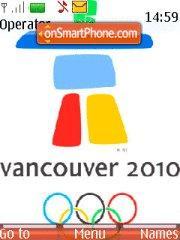 Vancouver Olympic Games tema screenshot