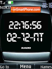 Swf stylish clock theme screenshot