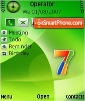 Windows7 Green by riajss theme screenshot