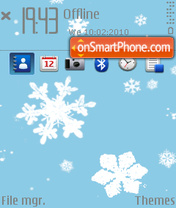 Snow o1 theme screenshot