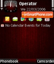 RedWoody theme screenshot