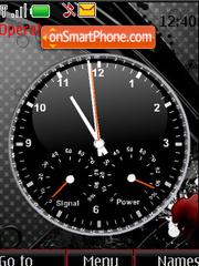 Clock, indicators theme screenshot