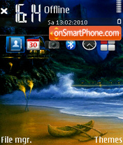 Beach Waves theme screenshot