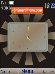 Brown SWF Clock theme screenshot