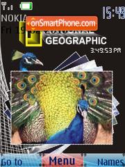 Capture d'écran Peacock SWF Clock thème