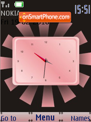Capture d'écran Pink SWF Clock thème