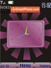 Purple SWF Clock theme screenshot