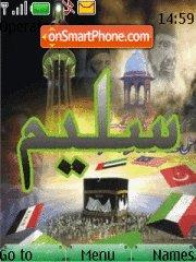 Capture d'écran Saleem Name thème