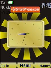 Yellow SWF Clock theme screenshot