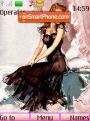 Charming woman es el tema de pantalla
