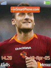 Francesco Totti es el tema de pantalla