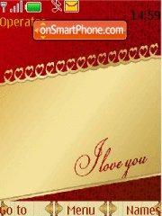 Saint Valentines Day theme screenshot