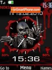 Clock indicator skull theme screenshot
