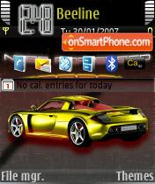 Скриншот темы Porsche Carbon