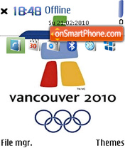 Vancouver Olympic 2010 2 theme screenshot