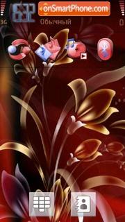 Golden Flowers theme screenshot