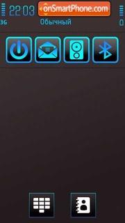 Neon Blue 01 theme screenshot
