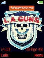 L. A. Guns theme screenshot