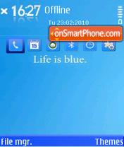 Life is Blue 01 theme screenshot