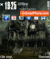 Hunted house theme screenshot