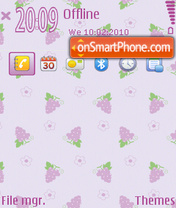 Скриншот темы Grape fp1