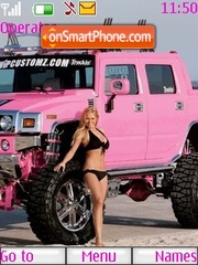 Скриншот темы Pink Hummer