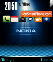 Nokia 5804 theme screenshot